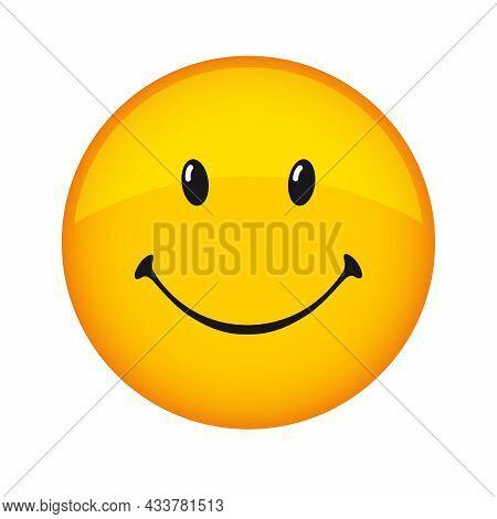 Creative Smile Icon, Holiday 3d Web Sign. Smiling Emoticon Vector Logo. Happy World Smile Day, Happy