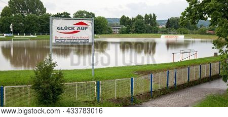 GERA, GERMANY - June 03, 2016: Flood in the city of Gera in June 2016
