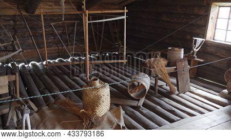 Kizhi, Karelia - July 22, 2020: Museum Of The Life Of Ancient Karelians On Kizhi Island On Lake Oneg
