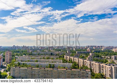 Multi-storey Residential Apartment Buildings In A Residential Area.