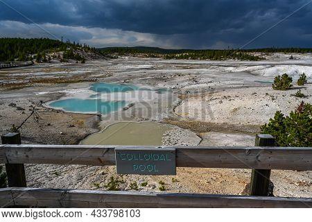Yellowstone Np, Wy, Usa - Aug 12, 2020: The Colloidal Pool