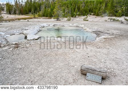 Yellowstone Np, Wy, Usa - Aug 12, 2020: The Crater Spring