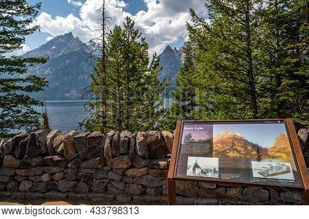 Grand Teton, Wy, Usa - Aug 29, 2020: The Jenny Lake