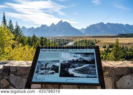 Grand Teton, Wy, Usa - Sept 2, 2020: The Capturing In A Box