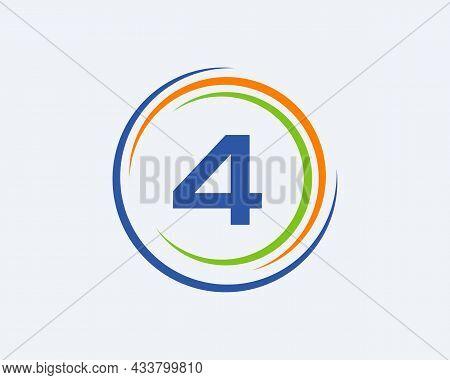 4 Letter Logo Design. Modern, Unique Creative 4 Logo Design. Initial 4 Letter Business Logo Template