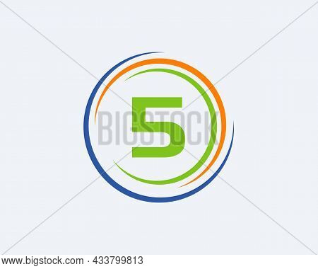 5 Letter Logo Design. Modern, Unique Creative 5 Logo Design. Initial 5 Letter Business Logo Template