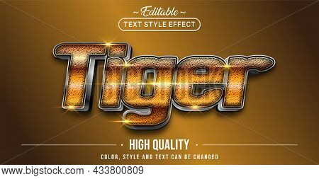 Editable Text Style Effect - Tiger Text Style Theme. Graphic Design Element.