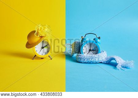 Clock Switch To Summer Time And To Winter Time.