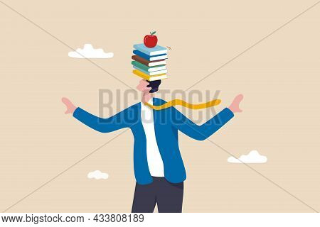 Business Development Books, Learning Or Studying New Skill For Self Improvement And Success In Work,