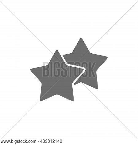 Stars, Favorite, Best Choice, Positive Feedback Grey Icon.