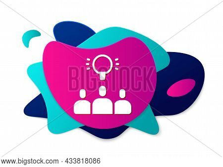 Color Project Team Base Icon Isolated On White Background. Business Analysis And Planning, Consultin