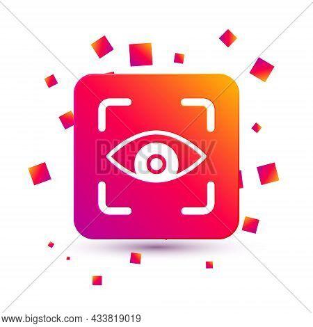 White Eye Scan Icon Isolated On White Background. Scanning Eye. Security Check Symbol. Cyber Eye Sig