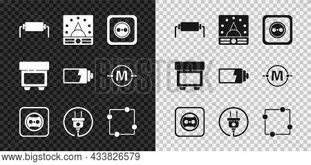 Set Resistor Electricity, Ampere Meter, Multimeter, Voltmeter, Electrical Outlet, Plug, Circuit Sche