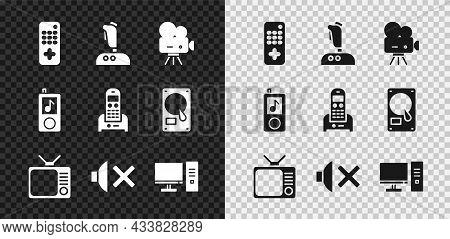 Set Remote Control, Joystick For Arcade Machine, Retro Cinema Camera, Tv, Speaker Mute, Computer Mon