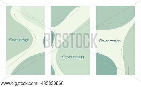 Abstract Vector Modern Stories Background Set. Geometric Illustration Background. Hand Drawn Pastel