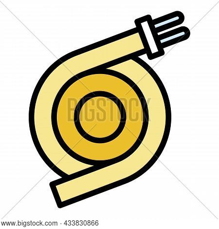 Plug Wire Icon. Outline Plug Wire Vector Icon Color Flat Isolated