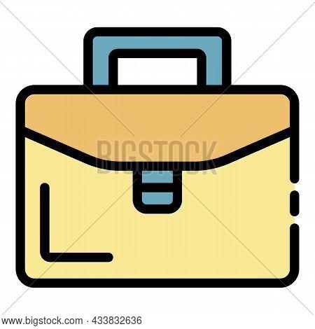 Admin Portfolio Icon. Outline Admin Portfolio Vector Icon Color Flat Isolated