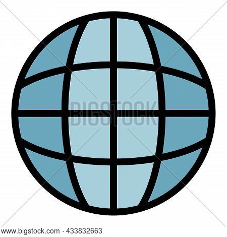 Globalization Icon. Outline Globalization Vector Icon Color Flat Isolated