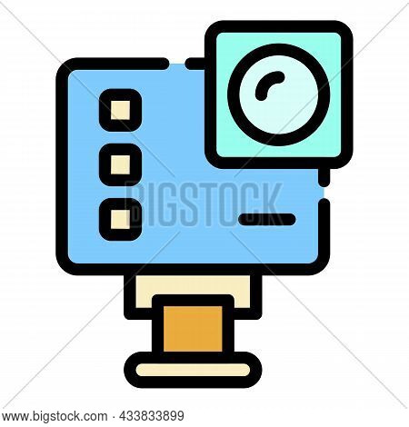 Extreme Action Camera Icon. Outline Extreme Action Camera Vector Icon Color Flat Isolated