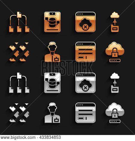 Set Analyst Engineer, Cloud Technology Data Transfer, Computing Lock, Browser Window, Data Stream, F