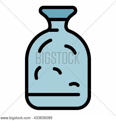Glass Jar Icon. Outline Glass Jar Vector Icon Color Flat Isolated