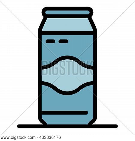 Aluminum Can Icon. Outline Aluminum Can Vector Icon Color Flat Isolated