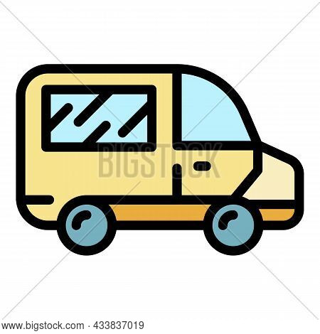 Ambulance Icon. Outline Ambulance Vector Icon Color Flat Isolated