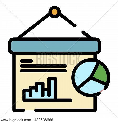 Finance Graph Icon. Outline Finance Graph Vector Icon Color Flat Isolated