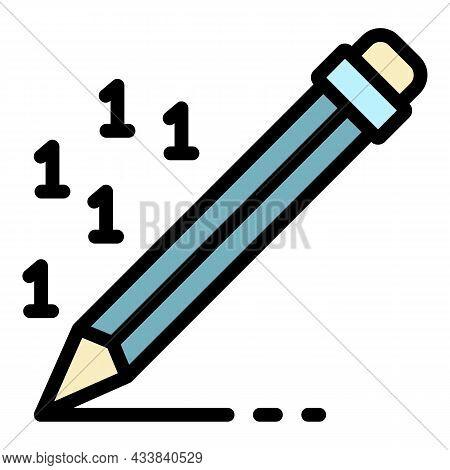 Pen Writing Money Report Icon. Outline Pen Writing Money Report Vector Icon Color Flat Isolated