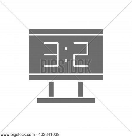 Vector Scoreboard Grey Icon. Isolated On White Background