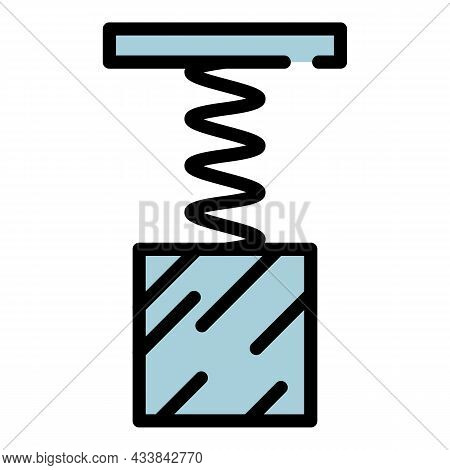 Spring Force Icon. Outline Spring Force Vector Icon Color Flat Isolated