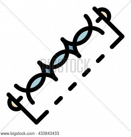 Inductive Coil Designation Icon. Outline Inductive Coil Designation Vector Icon Color Flat Isolated