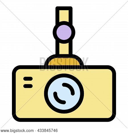 Car Cam Icon. Outline Car Cam Vector Icon Color Flat Isolated