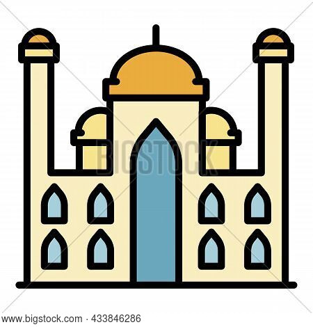 Arab Palace Icon. Outline Arab Palace Vector Icon Color Flat Isolated