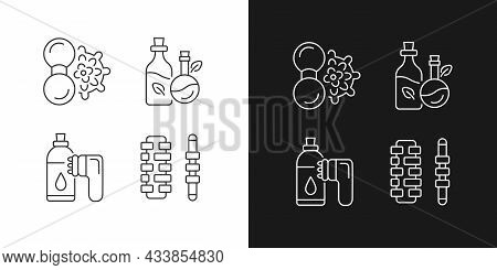 Hand Massagers Linear Icons Set For Dark And Light Mode. Anticellulite Massager. Devices For Massagi