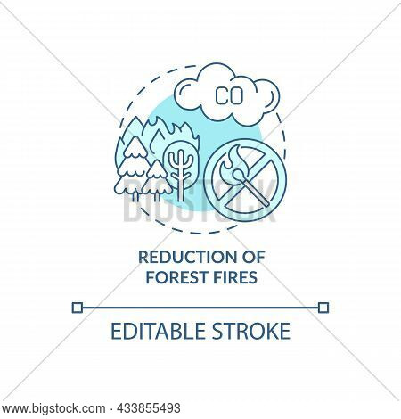 Forest Fires Reduction Concept Icon. Common Initiative Abstract Idea Thin Line Illustration. Forest