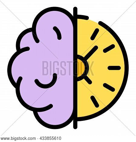 Brainstorming Quest Icon. Outline Brainstorming Quest Vector Icon Color Flat Isolated