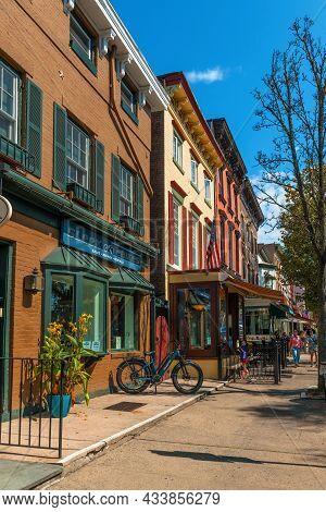 Sleepy Hollow, New York - September 18: Historic Building Exteriors Downtown On September 18 2021 In