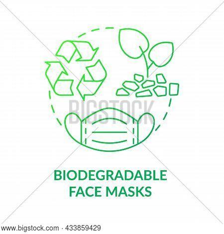 Biodegradable Surgical Masks Concept Icon. Environmentally Friendly, Compostable Disposable Medical