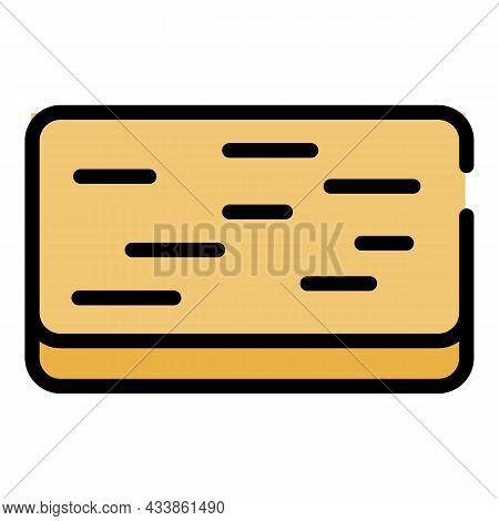Doormat Icon. Outline Doormat Vector Icon Color Flat Isolated