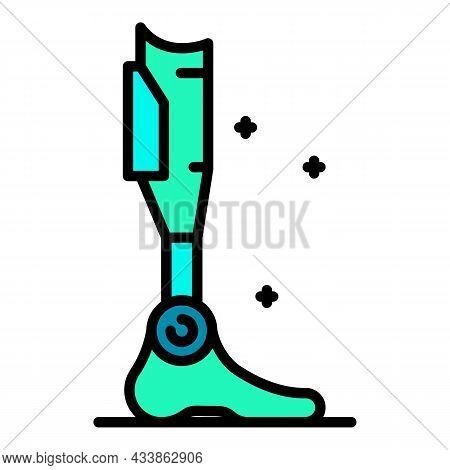 Titanium Prosthesis Icon. Outline Titanium Prosthesis Vector Icon Color Flat Isolated