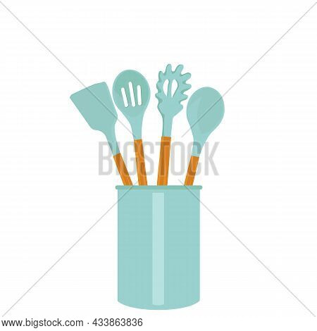 Vector Illustrations For Kitchen Accessories. Home Kitchen Decor Concept, Kitchen Tools, Rubber Acce