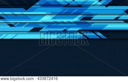 Abstract Blue Circuit Cyber With Blank Space Geometric Futuristic Technology Vector Background Illus
