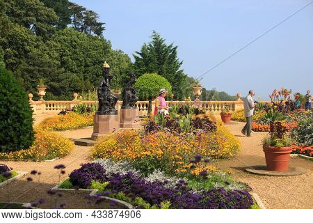 Osborne House Gardens, Isle Of Wight, 2021. The Landscaped Gardens And Parterre Were Renovated In 20