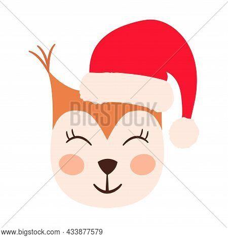 Squirrel Emoji Heads Santa Hat Set Ww