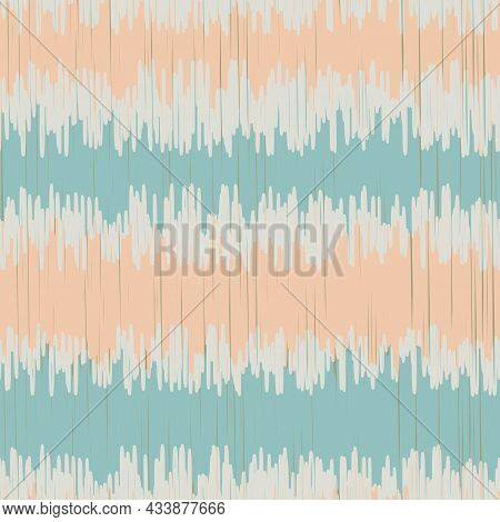 Shibori Style Striped Vector Seamless Vector Pattern Background. Scribbled Horizontal Stripes Backdr