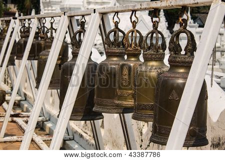 Bronze Bell In The Temple