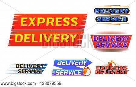 Express Delivery Logo Banner, Quick Shipping Icon.