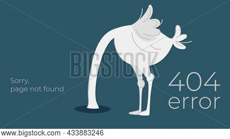 Illustration Of Internet Connection Problem Concept. 404 Error Page Not Found Isolated In Black Back