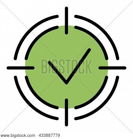 Goal Achieved Icon. Outline Goal Achieved Vector Icon Color Flat Isolated
